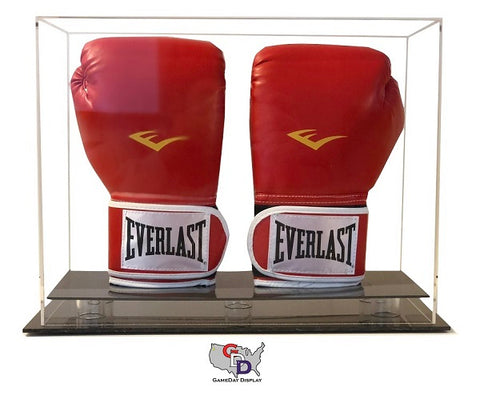 Image of Acrylic Desk Top Vertical Double Boxing Glove Display Case