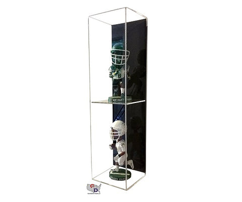 Acrylic Wall Mount Vertical Double Bobblehead Display Case