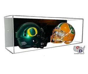 Acrylic Wall Mount Double Mini Helmet Display Case