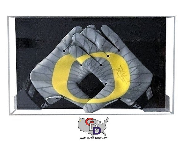 Acrylic Wall Mount Football Glove Display Case Gameday