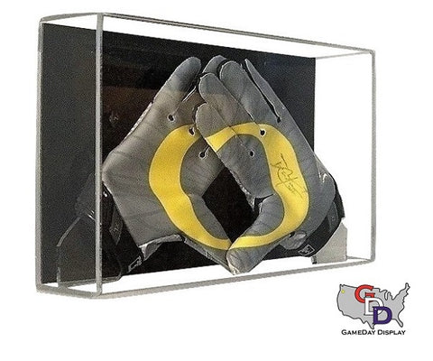 Acrylic Wall Mount Football Glove Display Case