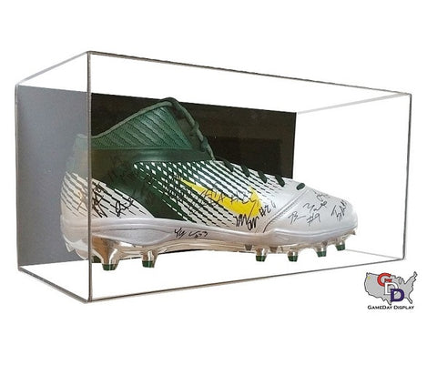 Acrylic Wall Mount Large Shoe Display Case - Size 17 and Under