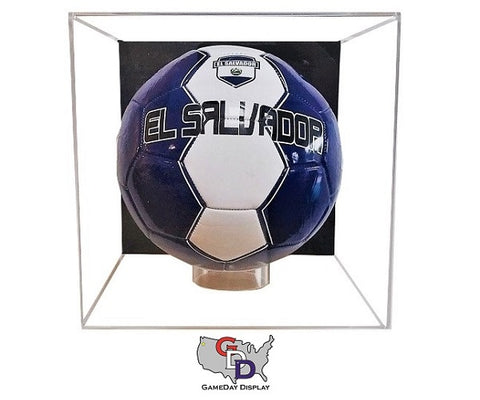 Image of Acrylic Wall Mount Soccer Ball Display Case