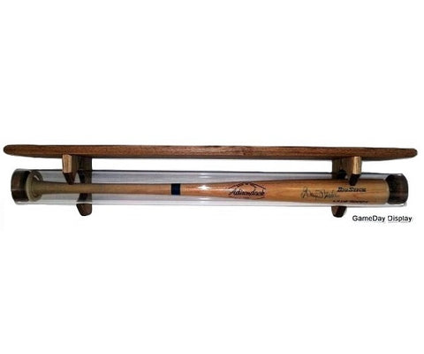 Image of Baseball Bat Display Case With Shelf