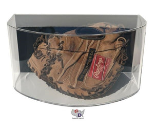 Curved Acrylic Wall Mount Baseball Glove Display Case