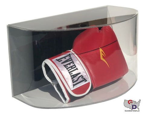 Image of Curved Acrylic Wall Mount Boxing Glove Display Case