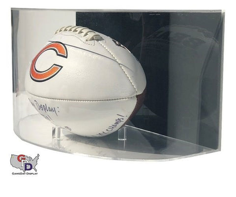 Image of Curved Acrylic Wall Mount Full Size Football Display Case