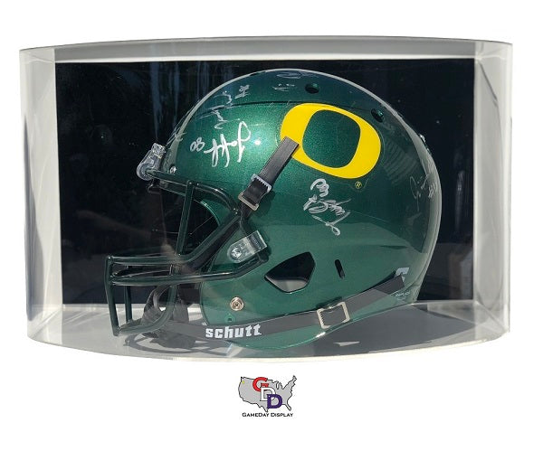 Curved Acrylic Wall Mount Full Size Football Helmet Display Case