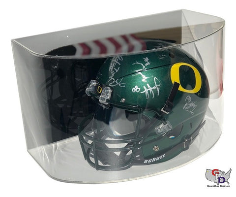 Image of Curved Acrylic Wall Mount Full Size Football Helmet Display Case