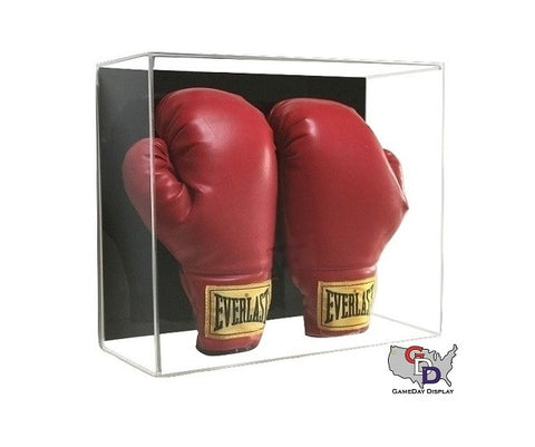 Acrylic Wall Mount Double Boxing Glove Display Case