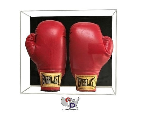 Image of Acrylic Wall Mount Double Boxing Glove Display Case