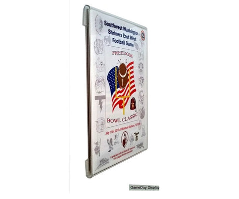 Frameless Acrylic Standard Size Magazine Display Case