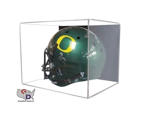 Image of Acrylic Wall Mount Full Size Football Helmet Display Case