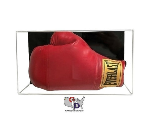 Acrylic Wall Mount Horizontal Boxing Glove Display Case