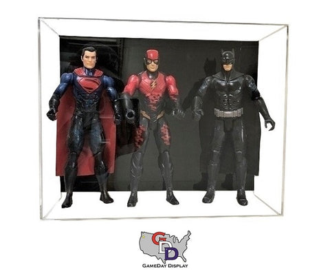 Image of Acrylic Wall Mount Triple Action Figure Display Case