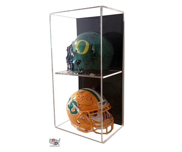 Acrylic Wall Mount Vertical Double Mini Helmet Display Case