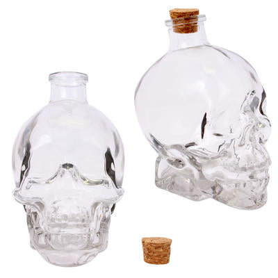 Glass Skull Decanter (14oz)