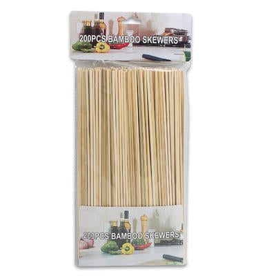 Natural Wood Bamboo Skewer (200 Count)