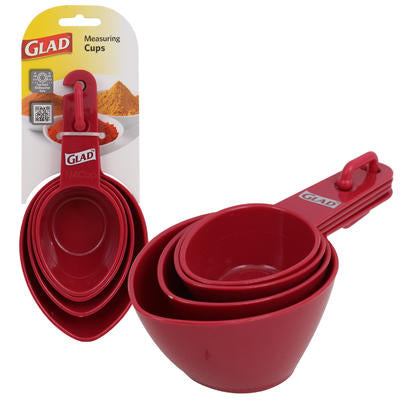 Glad Measuring Cup Set (4 Piece Red)