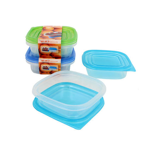 Plastic Container with Lid (2 pack, 23oz)