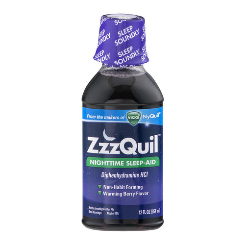 ZzzQuil Nighttime Sleep-Aid Berry Flavor (12oz)