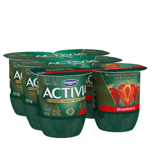 Activia Probiotic Blended Lowfat Yogurt Variety 4oz (6 Pack)