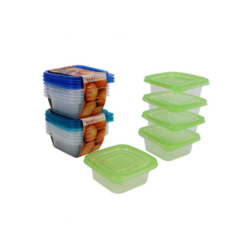 Plastic Container with Lid (5 pack, 11.8oz)