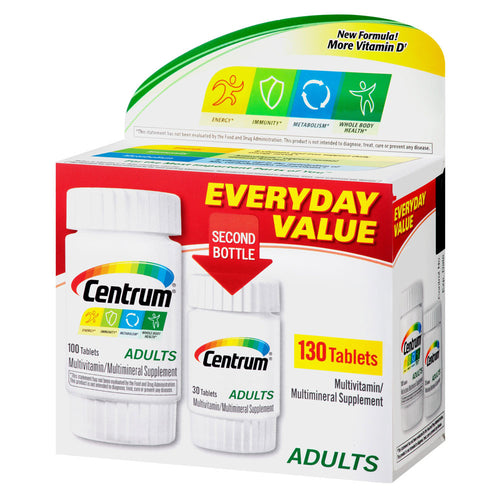 Centrum Adults Multivitamin/Multimineral Supplement Tablets (130 ct)