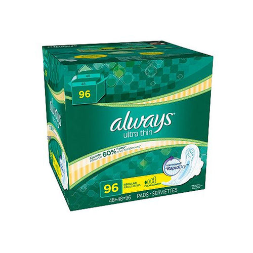 Always Ultra Thin Regular Pads with Wings (96 ct.)