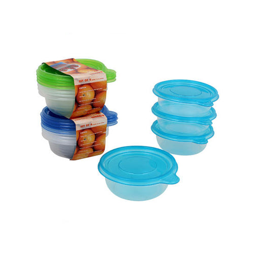 Plastic Container with Lid (4 pack, 13.5oz)
