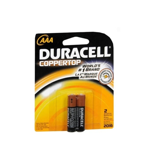 Duracell Coppertop AAA Alkaline Batteries (2 Pack)