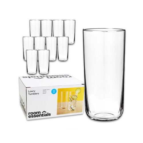 Room Essentials Lowry Glass Tumblers (12 pack)
