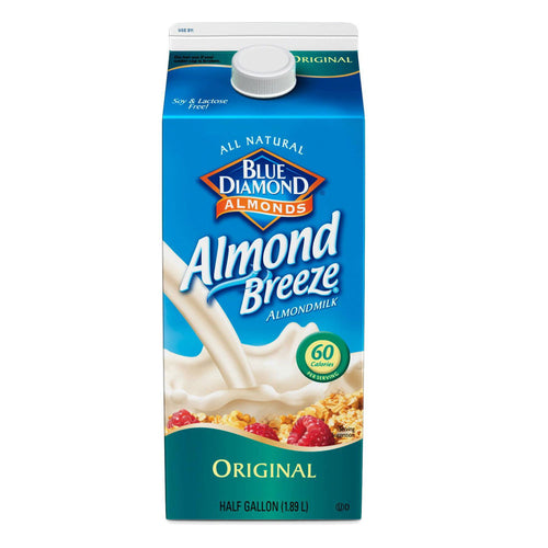 Blue Diamond Almond Breeze All Natural Almond Milk - 64oz (3 Types)