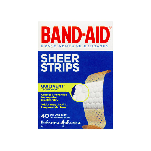 Band-Aid Adhesive Bandages Sheer (40 Count)