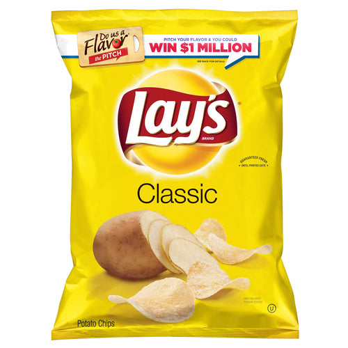 Lay's Classic Potato Chips, 10 & 24 oz. Bag