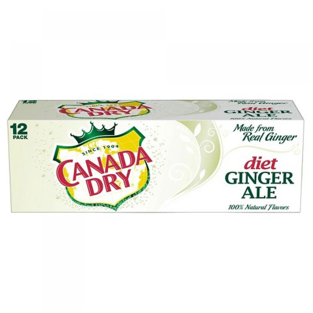 Diet Canada Dry Ginger Ale Cans (12oz., 12 Pack)