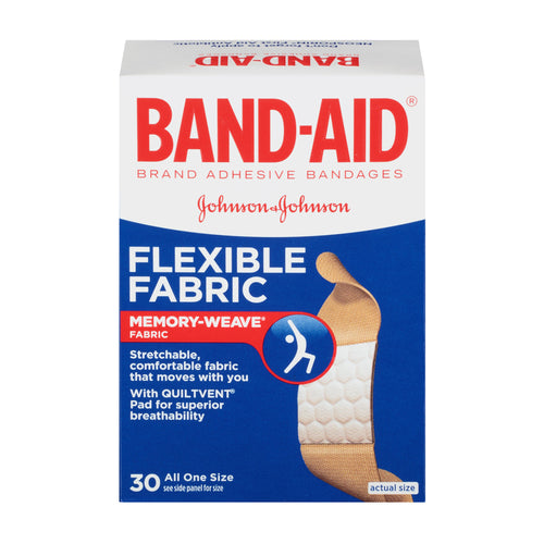 BAND-AID Brand Flexible Fabric Adhesive Bandages (30 Count)