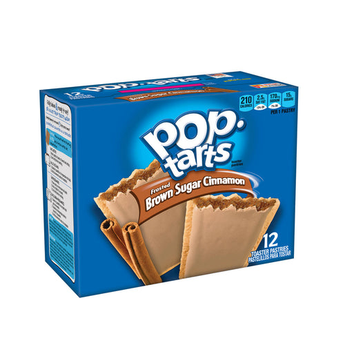 Kellogg's Pop-Tarts, Frosted Brown Sugar Cinnamon, (12  or 36 pastries)