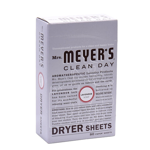 Mrs. Meyers Lavender Dryer Sheets 80 count