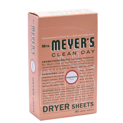 Mrs. Meyers Geranium Dryer Sheets 80 count