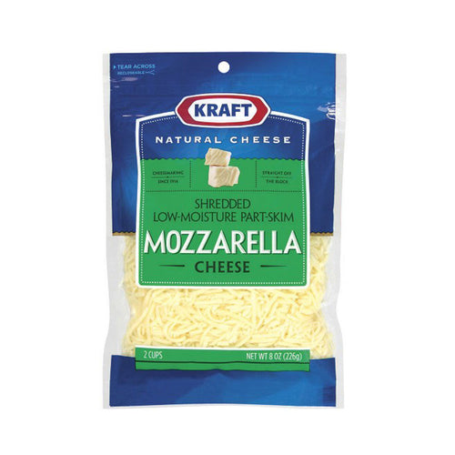 Kraft Shredded Low-Moisture Part-Skim Mozzarella Cheese 8 oz
