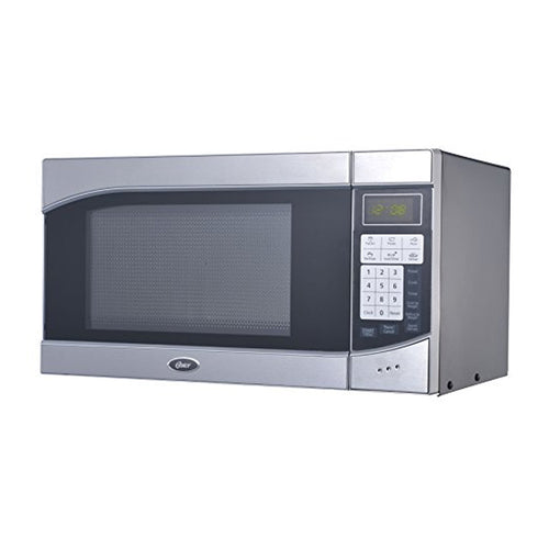 Oster OGH6901 0.9 Cubic Feet 900-Watt Countertop Digital Microwave Oven, Stainless Steel/Black