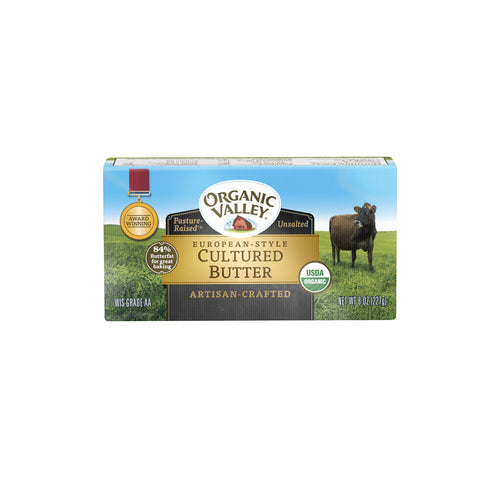 Organic Valley European-Style Cultured Butter, 8 oz