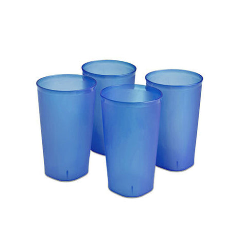 Sterilite Plastic Blue Tumbler Set (20oz - 4pc)
