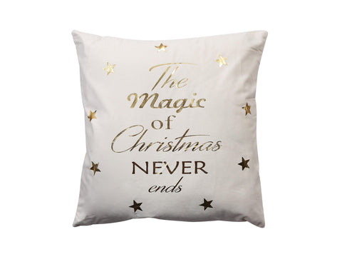 Cojin The Magic of Chistmas Gris 43×43cm Ref:201-8900015
