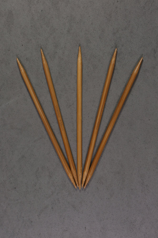 "Chiaogoo 6"" Bamboo Double Pointed Needles"