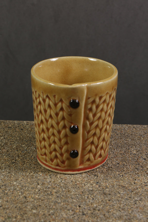 Creative With Clay Knitted Three Button Cup
