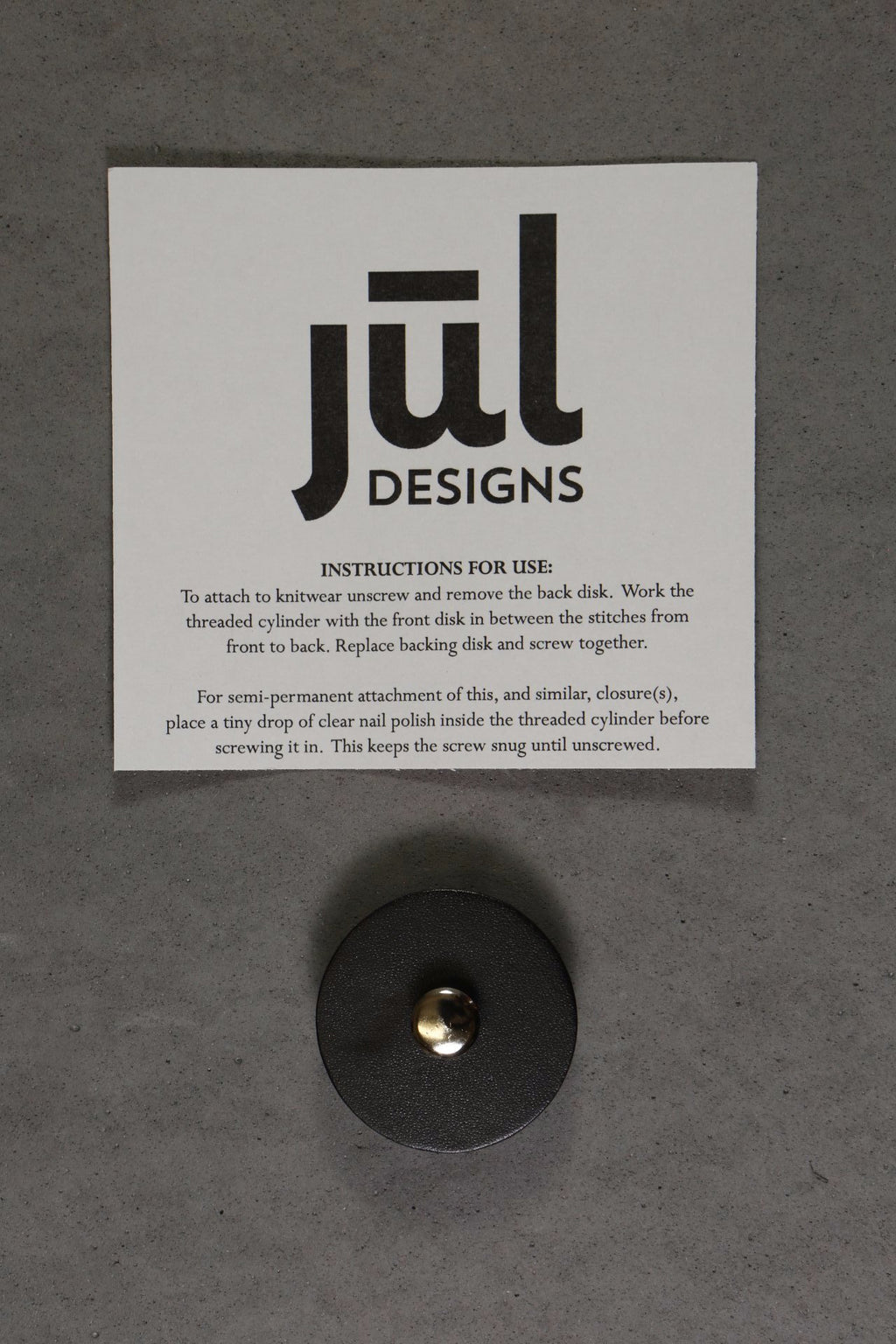 JUL Designs Leather Pedestal Button