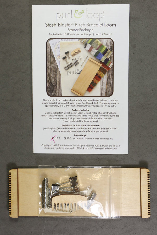 Purl & Loop Stash Blaster Birch Bracelet Loom Starter Package