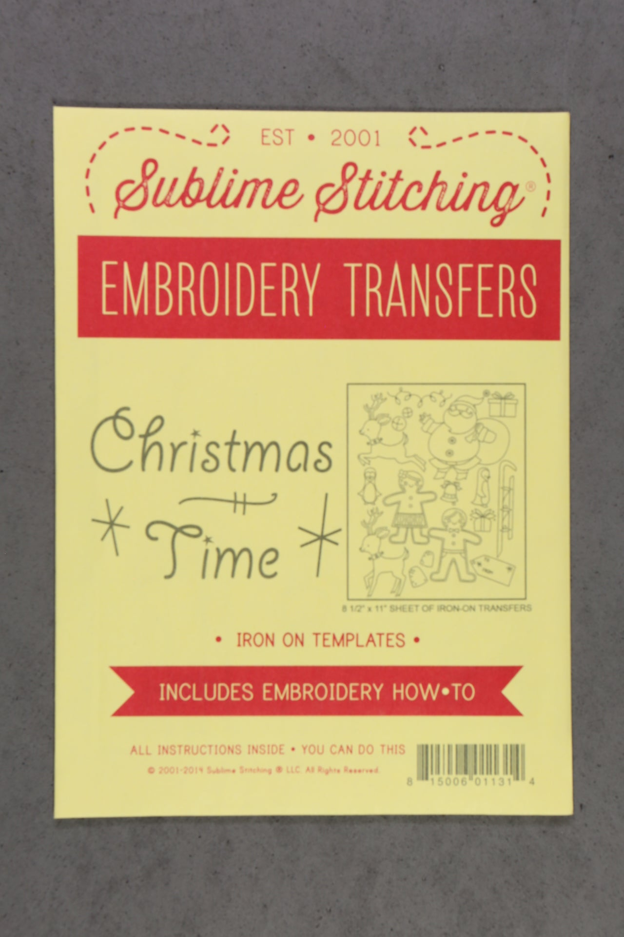 Sublime Stitching Embroidery Transfers Pattern – The Knitting Tree, L.A.